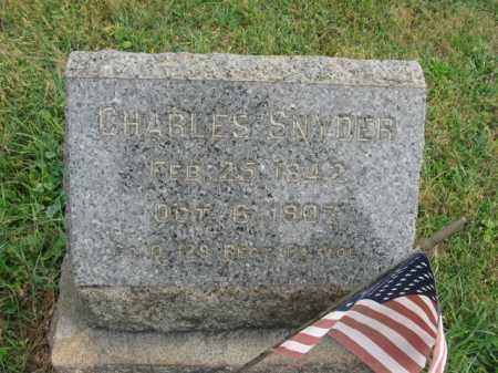 SNYDER, CHARLES - Lehigh County, Pennsylvania   CHARLES SNYDER - Pennsylvania Gravestone Photos