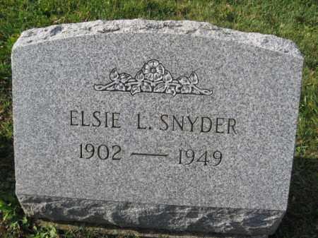SNYDER, ELSIE L. - Lehigh County, Pennsylvania | ELSIE L. SNYDER - Pennsylvania Gravestone Photos