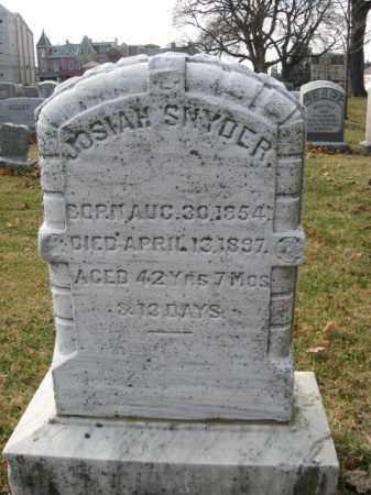 SNYDER, JOSIAH - Lehigh County, Pennsylvania | JOSIAH SNYDER - Pennsylvania Gravestone Photos