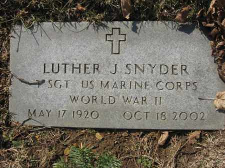 SNYDER, LUTHER J. - Lehigh County, Pennsylvania   LUTHER J. SNYDER - Pennsylvania Gravestone Photos