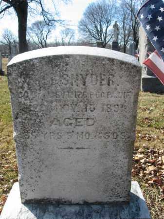 SNYDER, PVT.PETER - Lehigh County, Pennsylvania | PVT.PETER SNYDER - Pennsylvania Gravestone Photos