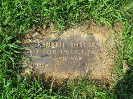 SNYDER, REUBEN - Lehigh County, Pennsylvania   REUBEN SNYDER - Pennsylvania Gravestone Photos