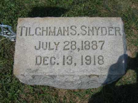SNYDER, TILGHMAN S. - Lehigh County, Pennsylvania   TILGHMAN S. SNYDER - Pennsylvania Gravestone Photos