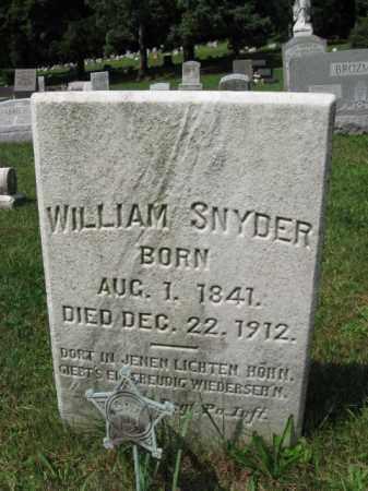 SNYDER, WILLIAM - Lehigh County, Pennsylvania   WILLIAM SNYDER - Pennsylvania Gravestone Photos
