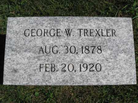 TREXLER, GEORGE W. - Lehigh County, Pennsylvania   GEORGE W. TREXLER - Pennsylvania Gravestone Photos