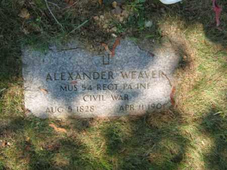 WEAVER (CW), ALEXANDER - Lehigh County, Pennsylvania | ALEXANDER WEAVER (CW) - Pennsylvania Gravestone Photos