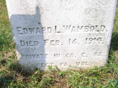 WAMBOLD, EDWARD L. - Lehigh County, Pennsylvania | EDWARD L. WAMBOLD - Pennsylvania Gravestone Photos