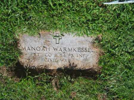 WARMKESSEL (CW), PVT.MANOAH - Lehigh County, Pennsylvania | PVT.MANOAH WARMKESSEL (CW) - Pennsylvania Gravestone Photos
