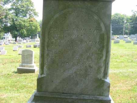 WEAVER, ELIZA - Lehigh County, Pennsylvania   ELIZA WEAVER - Pennsylvania Gravestone Photos