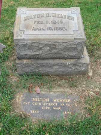 WEAVER, MILTON D. - Lehigh County, Pennsylvania | MILTON D. WEAVER - Pennsylvania Gravestone Photos