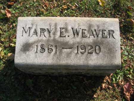 WEAVER, MARY E. - Lehigh County, Pennsylvania | MARY E. WEAVER - Pennsylvania Gravestone Photos