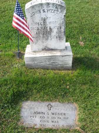WENER (CW), JOHN S. - Lehigh County, Pennsylvania | JOHN S. WENER (CW) - Pennsylvania Gravestone Photos