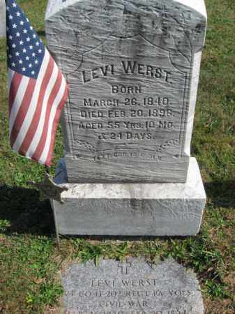 WERST, PVT. LEVI - Lehigh County, Pennsylvania | PVT. LEVI WERST - Pennsylvania Gravestone Photos