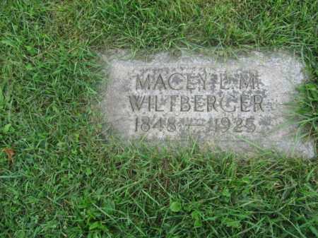 WILTBERGER, MACEY L.M. - Lehigh County, Pennsylvania | MACEY L.M. WILTBERGER - Pennsylvania Gravestone Photos