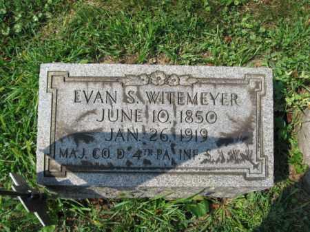 WITEMEYER, EVAN S. - Lehigh County, Pennsylvania | EVAN S. WITEMEYER - Pennsylvania Gravestone Photos