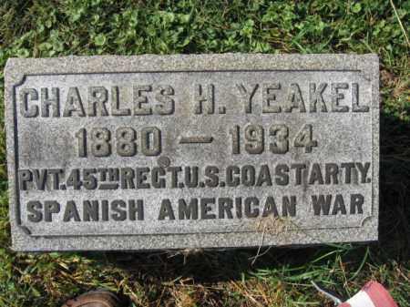 YEAKEL, CHARLES H. - Lehigh County, Pennsylvania   CHARLES H. YEAKEL - Pennsylvania Gravestone Photos