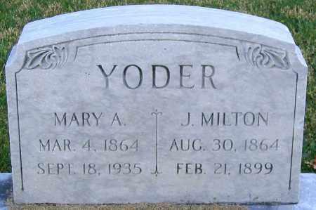 YODER, MARY A. - Lehigh County, Pennsylvania   MARY A. YODER - Pennsylvania Gravestone Photos