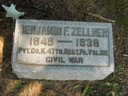 ZELLNER, BENJAMIN F. - Lehigh County, Pennsylvania | BENJAMIN F. ZELLNER - Pennsylvania Gravestone Photos