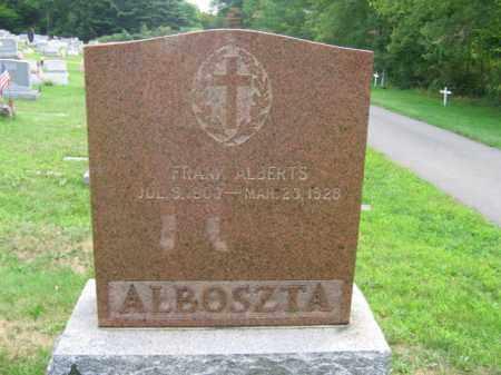 ALBOSZTA, FRANK  ALBERTS - Luzerne County, Pennsylvania | FRANK  ALBERTS ALBOSZTA - Pennsylvania Gravestone Photos