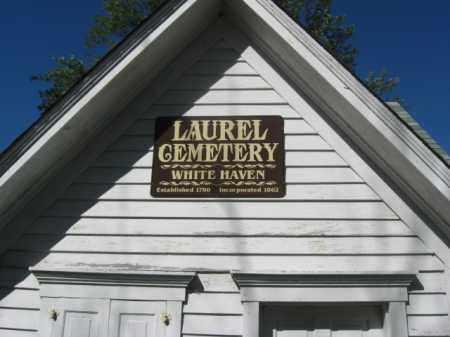 CEMETERY VIEW, LAUREL (WHITE HAVEN) - Luzerne County, Pennsylvania | LAUREL (WHITE HAVEN) CEMETERY VIEW - Pennsylvania Gravestone Photos