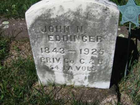 EDDINGER, JOHN  N. - Luzerne County, Pennsylvania | JOHN  N. EDDINGER - Pennsylvania Gravestone Photos