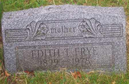 FRYE, EDITH T. - Luzerne County, Pennsylvania | EDITH T. FRYE - Pennsylvania Gravestone Photos