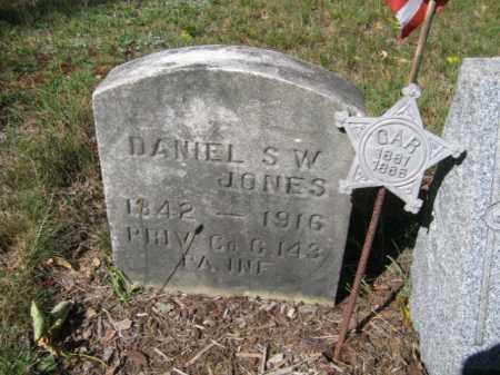 JONES, DANIEL S.W. - Luzerne County, Pennsylvania | DANIEL S.W. JONES - Pennsylvania Gravestone Photos