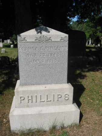 PHILLIPS, ALTHEA E. - Luzerne County, Pennsylvania | ALTHEA E. PHILLIPS - Pennsylvania Gravestone Photos