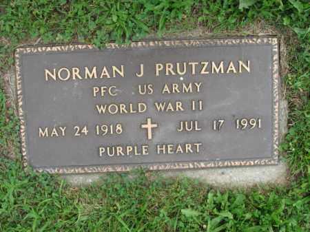 PRUTZMAN, NORMAN J. - Luzerne County, Pennsylvania | NORMAN J. PRUTZMAN - Pennsylvania Gravestone Photos
