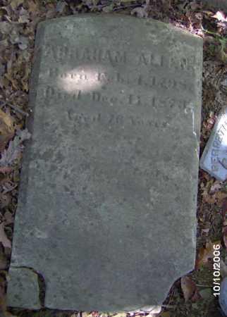 ALLEN, ABRAHAM - Lycoming County, Pennsylvania | ABRAHAM ALLEN - Pennsylvania Gravestone Photos