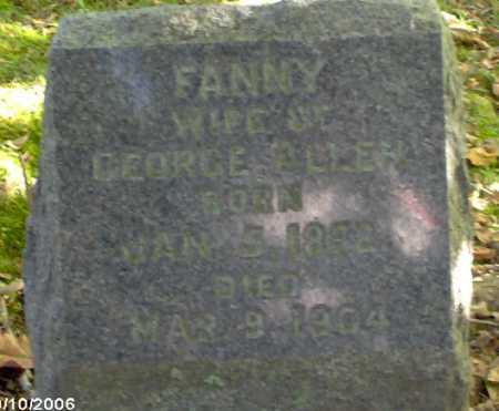 ALLEN, FANNY - Lycoming County, Pennsylvania | FANNY ALLEN - Pennsylvania Gravestone Photos