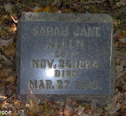 ALLEN, SARAH - Lycoming County, Pennsylvania   SARAH ALLEN - Pennsylvania Gravestone Photos