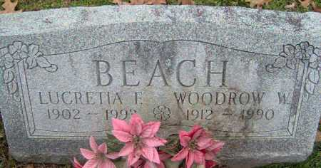 BEACH, LUCRETIA - Lycoming County, Pennsylvania | LUCRETIA BEACH - Pennsylvania Gravestone Photos
