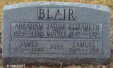 BLAIR, ELIZABETH ANN - Lycoming County, Pennsylvania | ELIZABETH ANN BLAIR - Pennsylvania Gravestone Photos