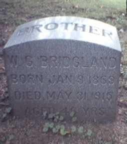 BRIDGLAND, WILLIAM - Lycoming County, Pennsylvania   WILLIAM BRIDGLAND - Pennsylvania Gravestone Photos
