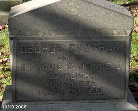 CHATHAM, GEORGE - Lycoming County, Pennsylvania   GEORGE CHATHAM - Pennsylvania Gravestone Photos