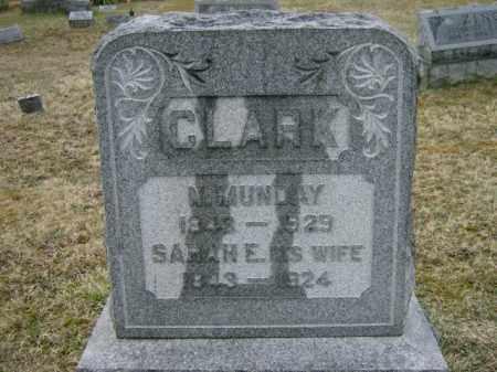 CLARK, SARAH - Lycoming County, Pennsylvania | SARAH CLARK - Pennsylvania Gravestone Photos