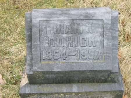 COHICK, HIRAM - Lycoming County, Pennsylvania | HIRAM COHICK - Pennsylvania Gravestone Photos