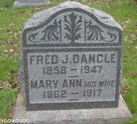 DANGLE, MARY - Lycoming County, Pennsylvania | MARY DANGLE - Pennsylvania Gravestone Photos