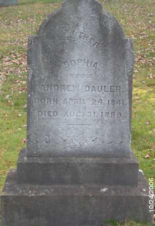 DAULER, SOPHIA - Lycoming County, Pennsylvania | SOPHIA DAULER - Pennsylvania Gravestone Photos