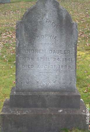 DAULER, SOPHIA - Lycoming County, Pennsylvania | SOPHIA DAULER - Pennsylvania Gravestone Photos