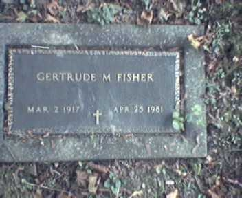 FISHER, GERTRUDE - Lycoming County, Pennsylvania | GERTRUDE FISHER - Pennsylvania Gravestone Photos