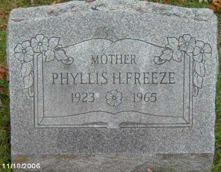 FRANTZ FREEZE, PHYLLIS - Lycoming County, Pennsylvania | PHYLLIS FRANTZ FREEZE - Pennsylvania Gravestone Photos