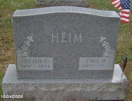 HEIM, LILLIAN - Lycoming County, Pennsylvania | LILLIAN HEIM - Pennsylvania Gravestone Photos