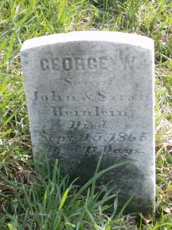 HEINLEIN, GEORGE - Lycoming County, Pennsylvania | GEORGE HEINLEIN - Pennsylvania Gravestone Photos