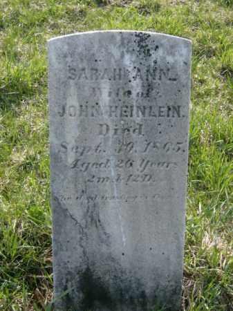HEINLEIN, SARAH - Lycoming County, Pennsylvania | SARAH HEINLEIN - Pennsylvania Gravestone Photos