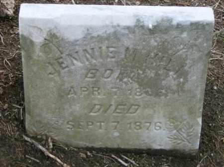 HILL, JENNIE - Lycoming County, Pennsylvania | JENNIE HILL - Pennsylvania Gravestone Photos