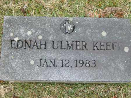 ULMER KEEFE, EDNAH - Lycoming County, Pennsylvania | EDNAH ULMER KEEFE - Pennsylvania Gravestone Photos
