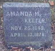 KEEFER, AMANDA - Lycoming County, Pennsylvania | AMANDA KEEFER - Pennsylvania Gravestone Photos