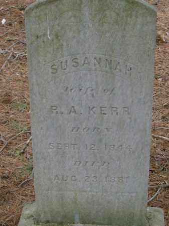 KERR, SUSANNAH - Lycoming County, Pennsylvania | SUSANNAH KERR - Pennsylvania Gravestone Photos